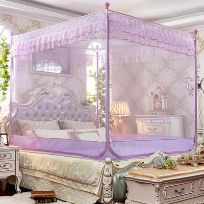 坐床拉链蚊帐      8816甜蜜花园-全底(16#不锈钢) 180*220*175 紫色