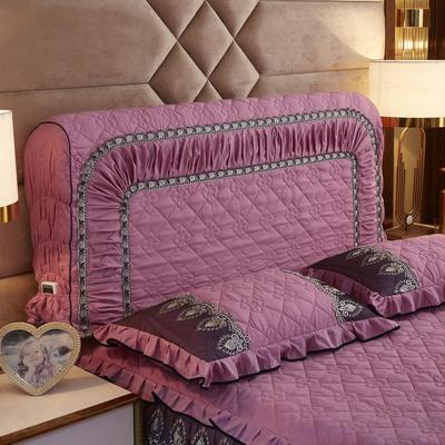 2019新款凯瑟琳--磨毛夹棉单床靠背 1.5m 豆沙红