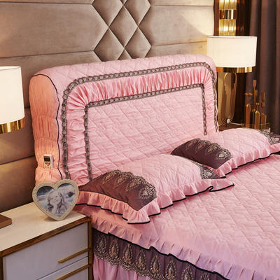 2019新款凯瑟琳--磨毛夹棉单床靠背 1.5m 芙蓉玉