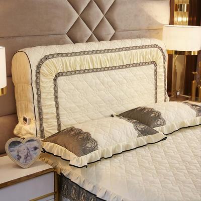 2019新款凯瑟琳--磨毛夹棉单床靠背 1.5m 奶油黄