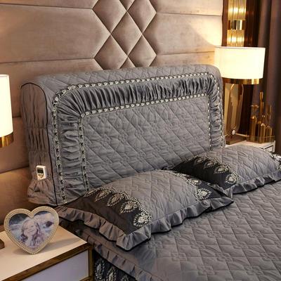 2019新款凯瑟琳--磨毛夹棉单床靠背 1.5m 雾灰色