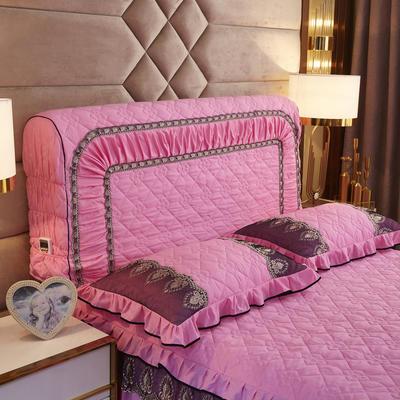 2019新款凯瑟琳--磨毛夹棉单床靠背 1.5m 胭脂粉