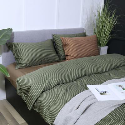 60s天丝棉四件套 1.5m/1.8m床 天丝棉 套件 贵族绿