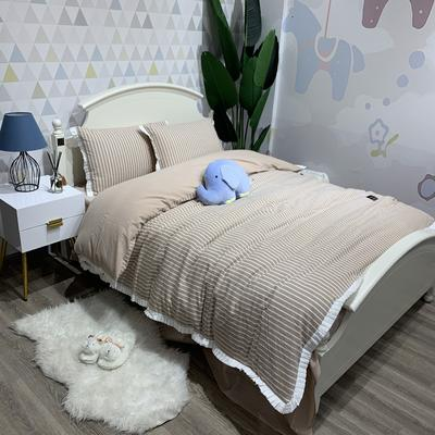 韩版水洗棉工艺款四件套  自然之旅 1.5m/1.8m床 自然之旅 浅咖