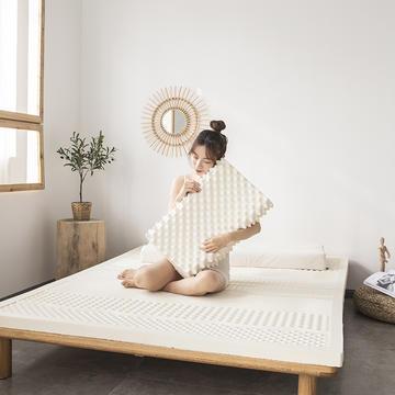 2021新款泰国天然乳胶床垫A品七区按摩款平板舒适款