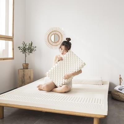 2021新款泰国天然乳胶床垫A品七区按摩款平板舒适款 1.2*2*5cm 白色