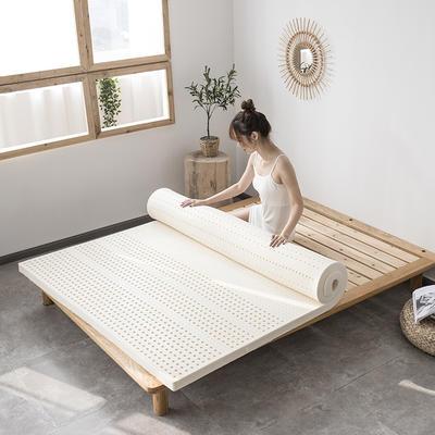 2021新款泰国天然乳胶床垫A品七区按摩款平板舒适款 1.2*2*5cm 米色