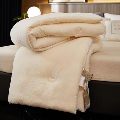 2021新款全棉新疆棉花被 全棉大豆被 加厚冬被夏被空调被 150*200cm(5.6斤) 原棉大豆蛋白纤维被