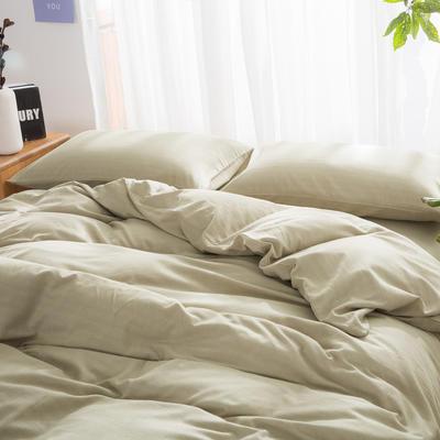 私享家2017新品无印良品风格人字斜纹棉四件套套件全棉套件 1.5m(5英尺)床 卡其