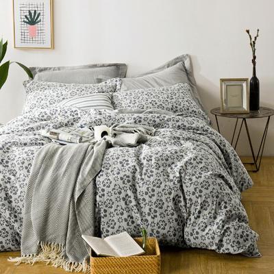 私享家双层纱色织大提花套件 1.8m(6英尺)床 梦境花园-灰