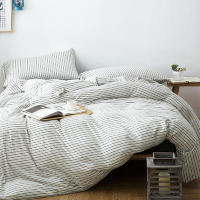 针织棉四件套新品雅白 1.5m(5英尺)床 雅白