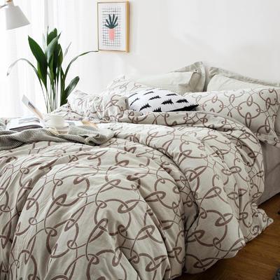 双层纱色织大提花四件套盗梦空间-咖 1.5m(5英尺)床 盗梦空间-咖