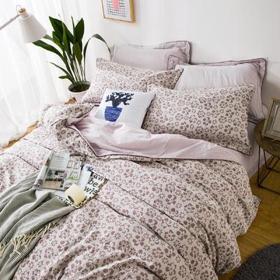 双层纱色织大提花四件套梦境花园-豆沙 1.5m(5英尺)床 梦境花园-豆沙