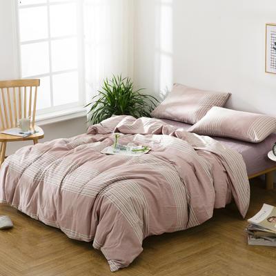水洗棉四件套——时光走廊 1.5m(5英尺)床 时光走廊