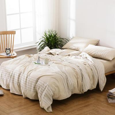 水洗棉四件套——心动韵律 1.5m(5英尺)床 心动韵律