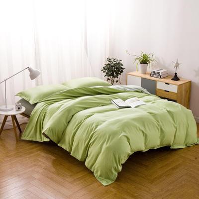 色织棉麻四件套豆绿 1.8m(6英尺)床 豆绿