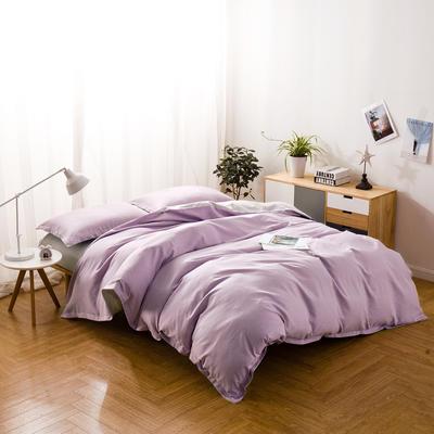 色织棉麻四件套藕荷 1.8m(6英尺)床 藕荷