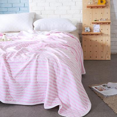 针织夏被----粉色条纹 150x200cm 粉色条纹