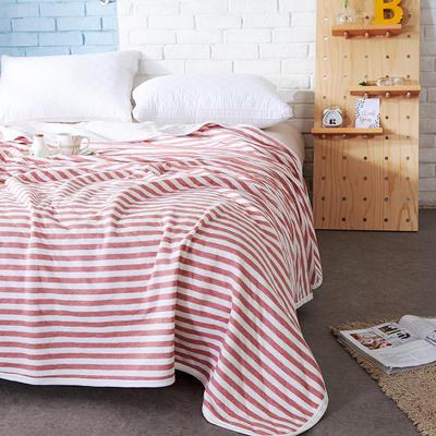 针织夏被--红色条纹 150x200cm 红色条纹