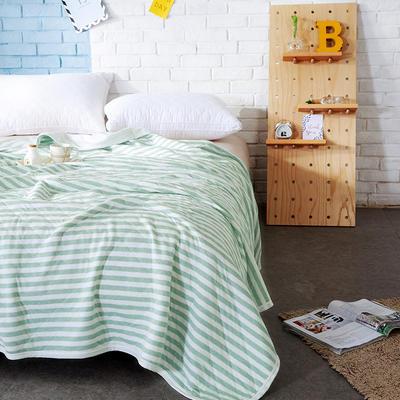针织夏被---绿色条纹 150x200cm 绿色条纹