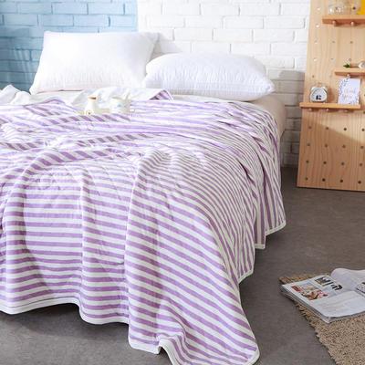 针织夏被---紫色条纹 150x200cm 绿色条纹