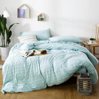 针织棉四件套米兰条 1.5m(5英尺)床 条(米兰)