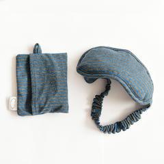 2017 新款针织眼罩 Y926水蓝色x灰色