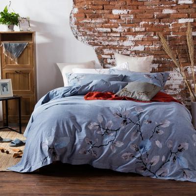 斜纹水洗刺绣套件---叶秋 1.5m(5英尺)床 叶秋