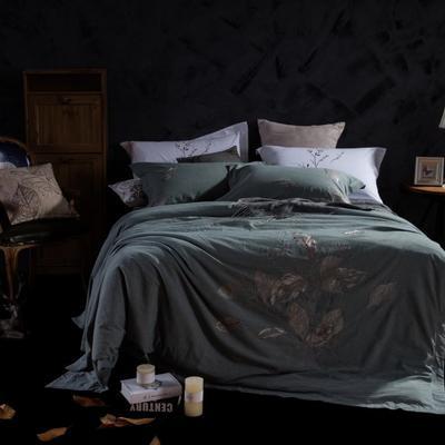 斜纹水洗刺绣套件--简忆 1.5m(5英尺)床 简忆