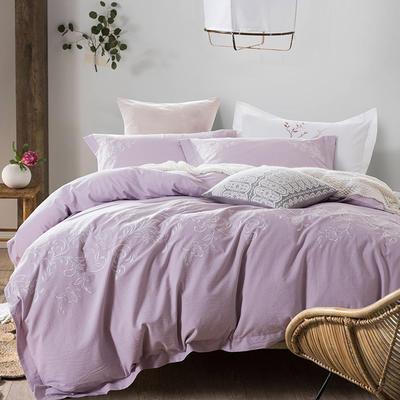 斜纹水洗刺绣套件---诺曼 1.8m(6英尺)床 斜纹水洗刺绣套件---诺曼