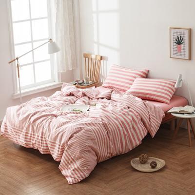 水洗棉四件套---玉粉条 1.5m(5英尺)床 玉粉条