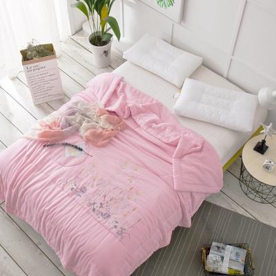 双层纱夏被----粉色 200X230cm 粉色