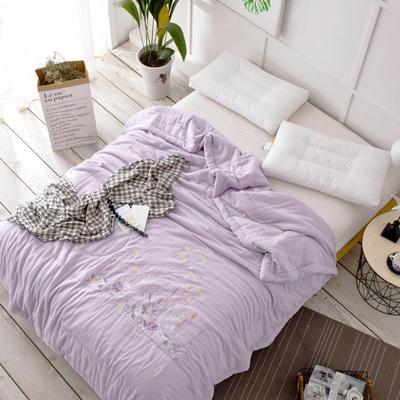 双层纱夏被---紫色 200X230cm 紫色