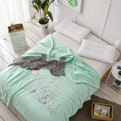 双层纱夏被---绿色 200X230cm 绿色