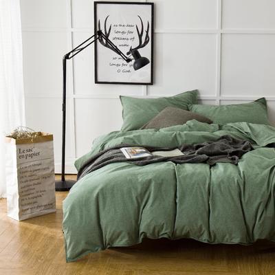 秋冬色织磨毛--绿 1.5m(5英尺)床 绿
