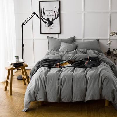 色织磨毛套件---墨绿 2.0m(6.6英尺)床 墨绿
