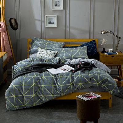 条格阳光暖绒—浅灰 1.5m(5英尺)床 浅灰