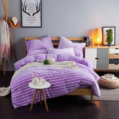 条纹阳光暖绒—淡紫 1.5m(5英尺)床 淡紫