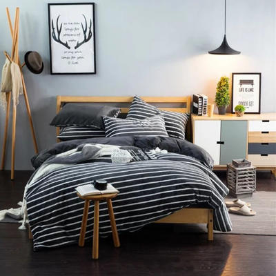 条纹阳光暖绒—深灰 1.5m(5英尺)床 深灰