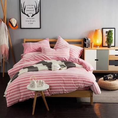 条纹阳光暖绒—玉粉 1.5m(5英尺)床 玉粉