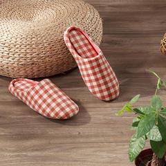 水洗棉家居拖鞋—铁红女款 37-38 铁红女款
