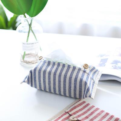 条纹纸巾盒 17*30CM 红条