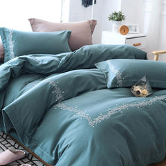 提花人字刺绣四件套 1.5m(5英尺)床 花迷林