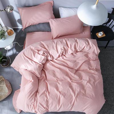 全棉纺麻色布四件套 1.8m(6英尺)床 素雅凝香-玉色