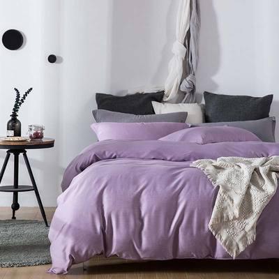 双色优纺四件套 1.8m(6英尺)床 丁香紫