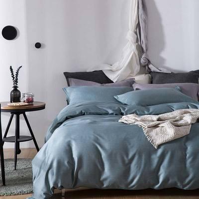双色优纺四件套 1.8m(6英尺)床 青苔绿