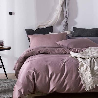 双色优纺四件套 1.8m(6英尺)床 沙漠红