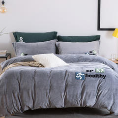 有氧健康系列暖绒绒四件套 1.5m(5英尺)床 有氧健康-灰色