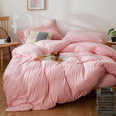 针织棉四件套-迷迭粉纯色 1.5m(5英尺)床 迷迭粉纯色
