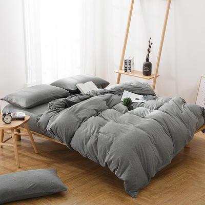针织棉四件套-丁子灰 1.5m(5英尺)床 丁子灰